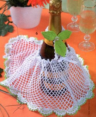 Украшение бутылки шампанского
