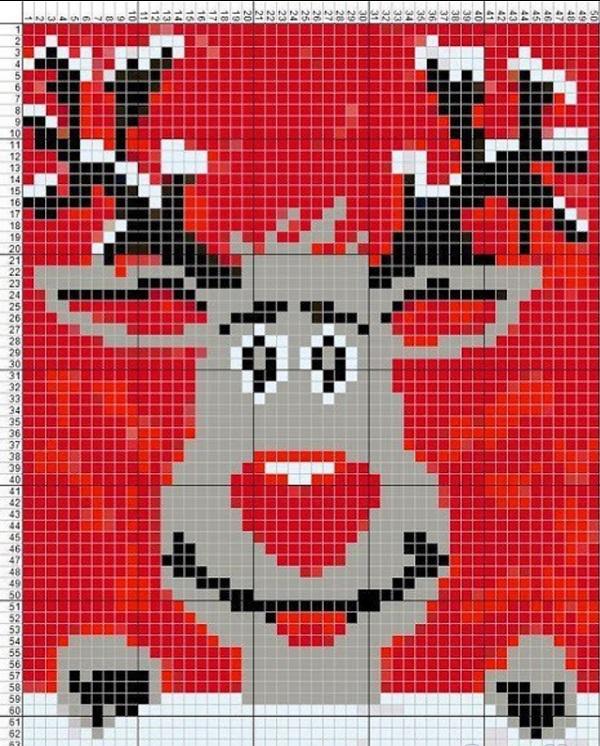 Вязание детского свитера смешной олень