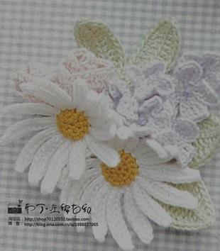 схемы вязания цветов
