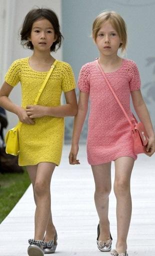 Детские платья 2017 крючком