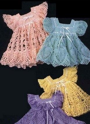 Вязание детского платья