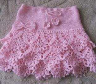 Вязание детской юбочки