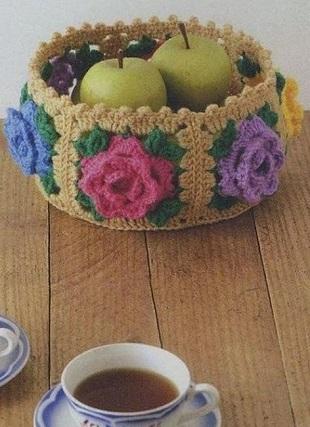 Корзинка для фруктов крючком
