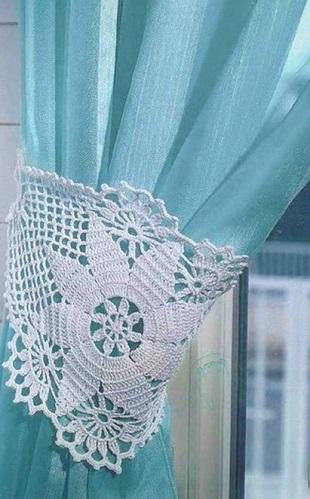 Вязание подхвата для штор