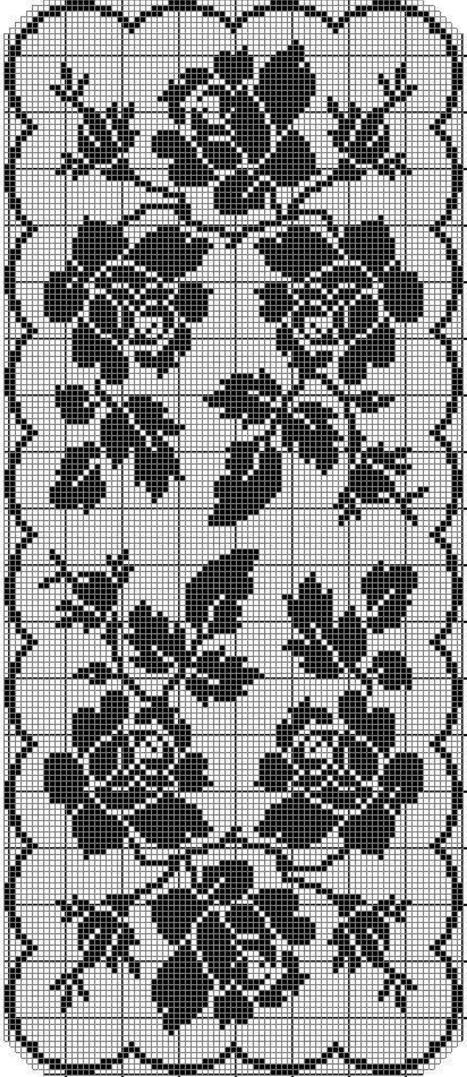Фото схем филейного вязания 960