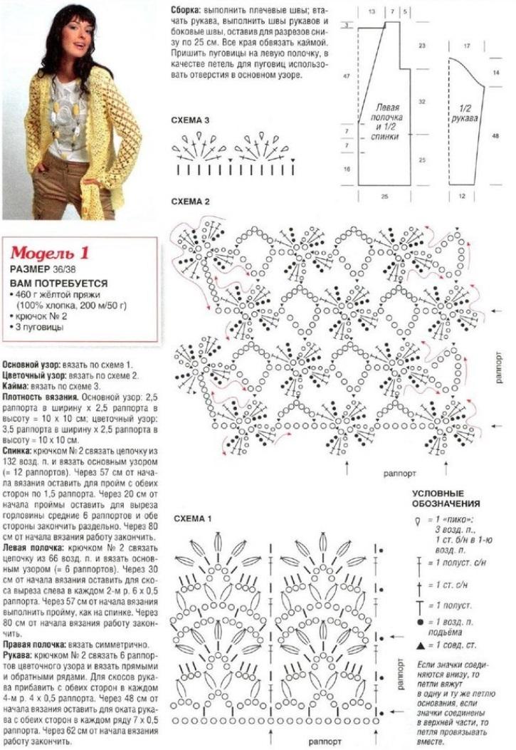 Крючок спицы модели вязание со схемами и описанием
