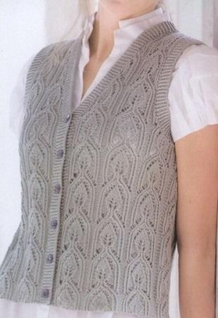 Вязание жилета с узором