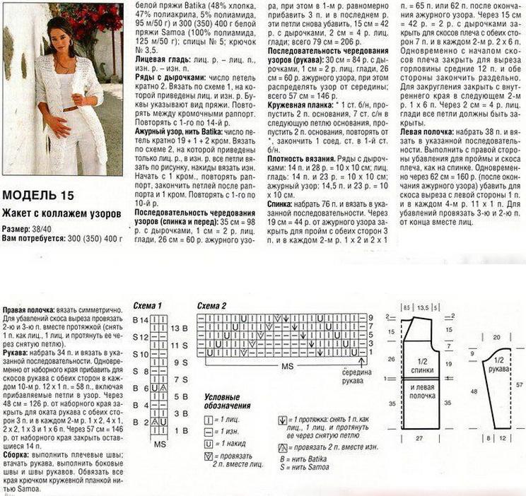 Ажурное вязание спицами для женщин кардиганы схемы  837