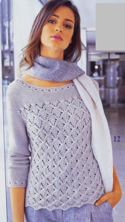 свитер спицами описание. вязанные кофты спицами 2011.