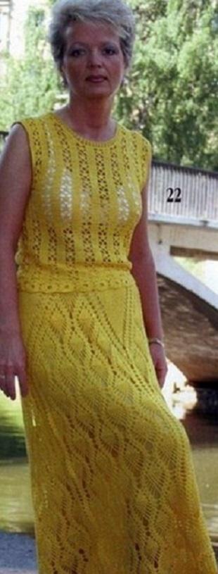 Вязание летнего костюма крючком