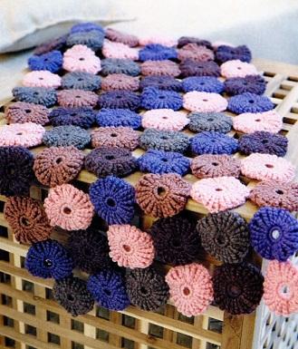 Схема вязания коврика крючком.  Описание вязаного коврика взято из журнала Вязаный креатив 3/2012 г.