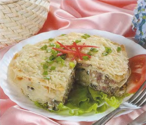 Блинный торт рецепт с фото с мясом и грибами