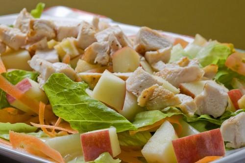рецепты салата с яблоками