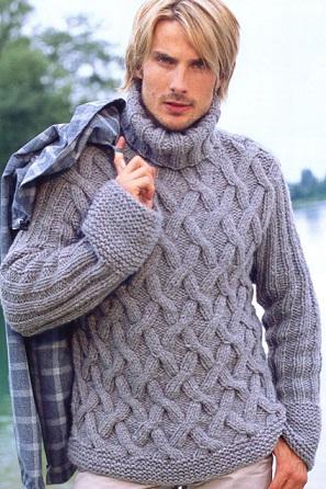 Вязаные мужские свитера схемы Мужской свитер вязаный спицами схема на русскомсвитера мужские... мужские и детские...