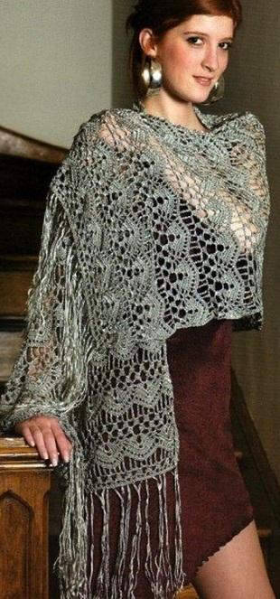 Схема вязания палантина