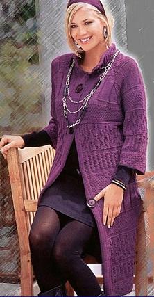 """Пальто  """" Схемы вязания."""
