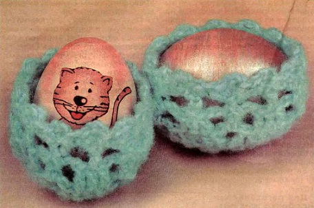 Схема вязания подставки для яиц крючком. пасха.  Подарок к Пасхе за полчаса.  Yaromila Volkova.