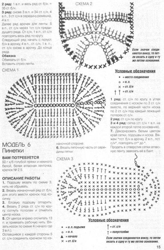 Схемы пинеток вязаные крючком