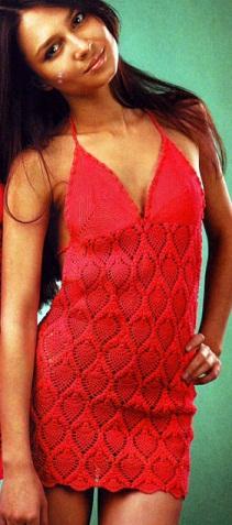 Платье сарафан-схема вязания