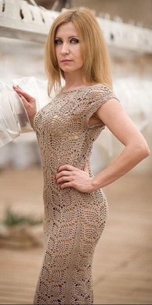 Схемы кружевного платья крючком