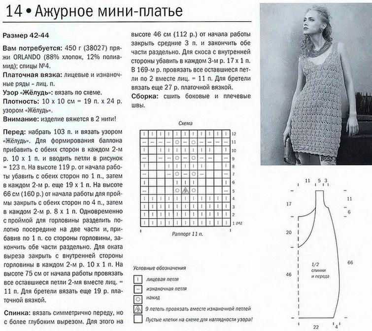 Вязание спицами платьев и костюмов схемы 526