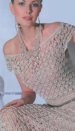 Платье крючком схемы и описание для женщин