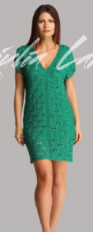 Узор для вязания платья крючком