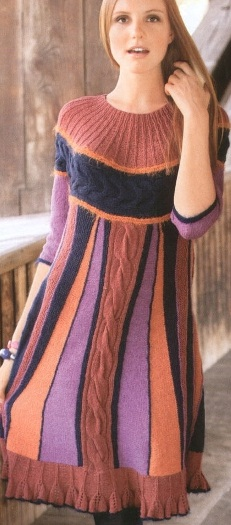 Вязание спицами схемы вязания теплых платьев бесплатно.
