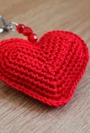 Брелок Сердечко крючком