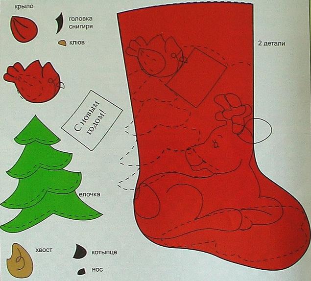 Christmas craft ideas: Christmas stocking pattern