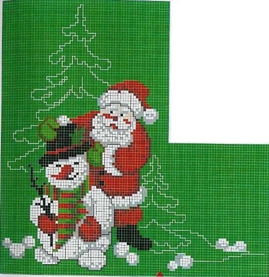 Этот новогодний сапожок с вышитым Дедом Морозом и снеговиком, украсит вашу квартиру в предстоящие Новогодние и...