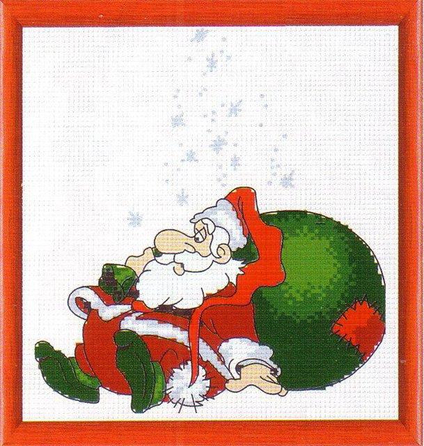 Схема вышивки. Дед Мороз.