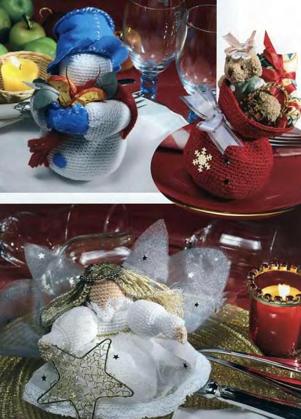 Подарки к Новому 2013 году, связанные крючком.