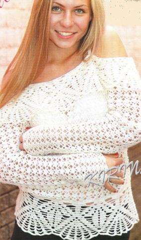 Вязание женский пуловер
