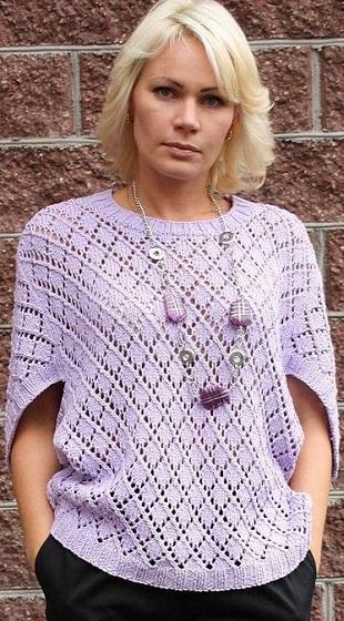 Вязание оригинального пуловера