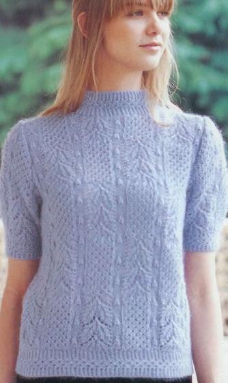 Вязать пуловер спицами