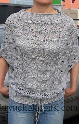 Пуловер-безрукавка спицами