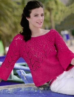 Схемы для вязания пуловера спицами