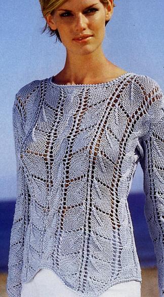 Женский пуловер связать