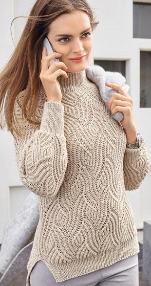 Узор для вязания пуловера спицами
