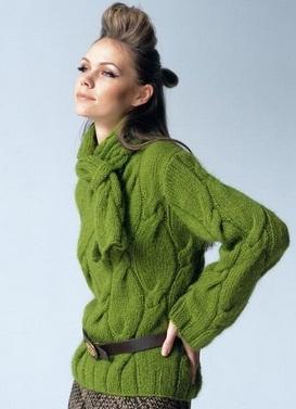 Схема вязания пуловера спицами