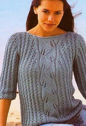 Вязание пуловера спицами
