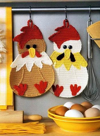 Yaromila Volkova.  Схема вязания прихваток крючком.  Эти очаровашки украсят вашу кухню и поднимут...