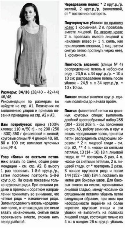 Схема вязания теплого сарафана 74