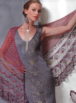 Вязание шалей шали веера пелерины крючком рисунки и схемы - Master class.