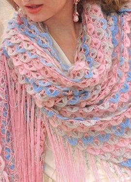очень красивые шали вязание крючком рисунки схемы.