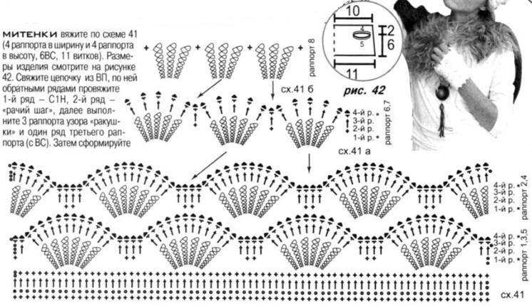 вязание крючком, связать митенки,Схемы фриволите, плетение на челночках,лоскутное шитье.