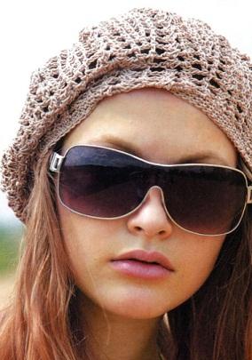 """Модель берета взята из журнала  """"Вязание модно и просто """" 6/2012 г. Летний вязаный берет схема.  Yaromila Volkova."""