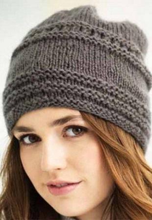 Схема вязания шапки чалмы спицами для женщин