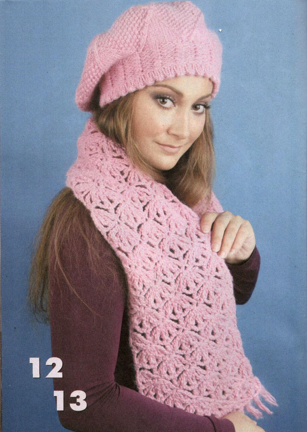 Вязание крючком шали шарфы снуд 74